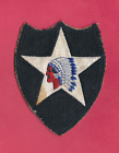 WWII WW2 US ARMY INDIAN DIVISION ON FIVE POINT STAR INFANTRY PATCH