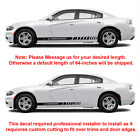 2x Multiple Color Graphics Car Racing Vinyl Decal Sticker For Dodge Charger