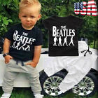 Toddler Kids Baby Boy T shirt Tops+Casual Long Pants Trousers Clothes Outfit Set