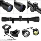 Excelvan 3 9X40 Tactical Rifle Scope Hunting Scope Sight + 11mm Mount Waterproof