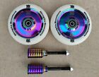 DIS 110mm Oil Slicks Scooter Wheels and Pegs Set 2 wheels + 2 pegs + 2 axles