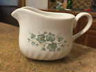 Corelle Coordinates Callaway Green Ivy Pattern Stoneware Gravy Boat Only