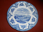Johnson Brothers England Chatsworth Blue Salad/Cheese Plate English Countryside