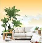 3D Sea Flowers And Trees 9086 Wallpaper Decal Decor Home Kids Nursery Mural Home