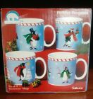 Sakura Stephanie Stouffer Holiday Penguins Mugs Set of 4 New in Box