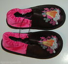 Girls Slippers HANNAH MONTANA SHINE DOUBLE TIME Pink Black S 11 12