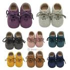 Cute Baby Kids Boys Girls Leather Shoes Toddler Moccasin Soft Crib Shoes 0 18 M