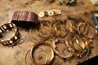 Assorted bangle bracelets lot of over 20 red purple silver gold copper L
