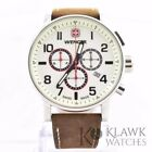 Wenger 01.1243.105 Men's Commando Brown Leather Chronograph Watch