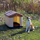 Large All Weather Double Insulated Dog House Cat Pet Plastic Brown Outdoor NEW
