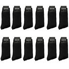 Gelante Men All Black Dress Socks Fashion Casual Cotton 3612 Pairs size 10 13