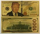 President Donald Trump $1,000.00 24kt Gold Plated C Bank Note Collector Gag Gift