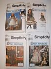 LOT 4 Simplicity pattern 7744 7546 7281 7305 Daisy Kingdom sz 2-6 + 18