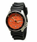 Seiko Automatic Diver SKX011J1 Orange Dial Black Rubber Band Mens Made in Japan