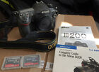 Nikon D200 DSLR Body 18500 clicks 3 Memory Cards Excellent Condition