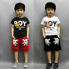 2PCS Toddler Boy Kids Mickey Mouse Outfits T shirt+Shorts Casual Clothes Set