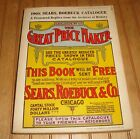1908 SEARS ROEBUCK Catalog Vintage 1969 Reproduction 1184 page Book