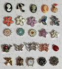 Origami Owl Vintage Flower  Butterfly Themed Charms