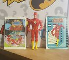 1985 Kenner Super Powers THE FLASH LOOSE COMPLETE WITH COMIC  BIO CARD