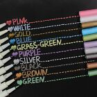 10pcs Assorted Metallic Paint Marker Pen Markers Set of 10 Colors DIY Brush Tip