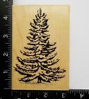 Vintage Pine Tree By Stampabilities Christmas Snow Covered Rubber Stamp 5A