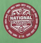 New Alabama Crimson Tide All Year 6 2015 Champions Iron on Patch Free Shipping