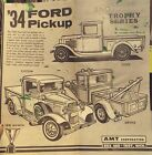 VINTAGE AMT 1934 FORD PICK-UP--MODEL CAR INSTRUCTION SHEET ONLY