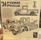 #2--VINTAGE AMT 1934 FORD PICK-UP--MODEL CAR INSTRUCTION SHEET ONLY--OUT 60's