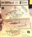 VINTAGE AMT 1959 CHEVY IMPALA MODEL CAR INSTRUCTION SHEET ONLY--OUT OF THE 60's