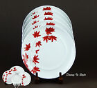 Mikasa, Pure Red, Set of 2 Salad Plates, SUPERB Condition! Portugal, SL134