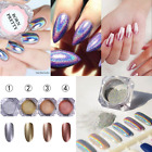 2G Box Rainbow Holographic Laser Powder Nail Glitter Chrome Pigments Power Dust