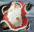 Fitz & Floyd Snow Business Santa Lg Serving Bowl, Collector Edition NEW in BOX