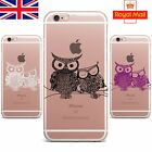 Owls in Love Mandala Henna Soft TPU Silicone Case Cover iPhone 8 X 6s 7 PLUS