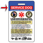 Service Dog ID Card Badge  Certificate with FREE Collar Tag 25 VALUE