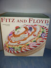 FITZ & FLOYD NUTCRACKER SWEETS COVERED PIE KEEPER DISH NEW OPENED BOX 2003