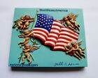 9 11 remembrance Hand made 3D US Flag Magnets God Bless America