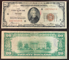 1929 $20 National Currency Chicago IL - Small Note - Brown Seal G 00790493 A