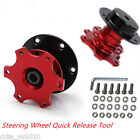 Universal Car Steering Wheel Quick Release HUB Racing Adapter Snap Off kits Red