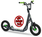 Mongoose Kids Air Tire Scooter Grey 12 inch Children Freestyle Wide Foot Deck