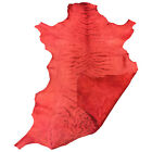 Red Leather Hide Genuine Sheepskin Upholstery Fabric DIY Soft Craft Material 966