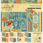 Graphic 45 Double Sided Paper Pad 12X12 24 Pkg Worlds Fair 8 Designs 3 Each