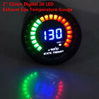 1PC 2 52mm Digital 20 LED Exhaust Gas Temperature Gauge EGT for Car Truck SUV