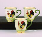 Pfaltzgraff, Daybreak, Set of 3 Mugs (14 oz.), MINT Condition! Rooster