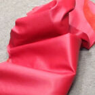 B91 Leather Cow Hide Cowhide Upholstery Craft Fabric Bright Red 50 63 72 sq ft