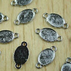 30pcs white K oval picture frames charms h0401