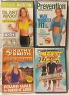 4 Walking workout Fitness DVD lot denise Austin power walk biggest loser indoor
