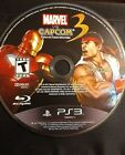 PlaySation 3 Marvel vs. Capcom 3 Fate of Two Worlds.  Disk only