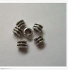 Free Shipping 50 Pcs Tibetan silver flowers charms spacer beads 6x4mm