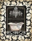 Midnight Bath with border I Poster Print by Tre Sorelle Studios (11 x 14)