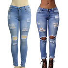 Plus Size Ladieswear Vintage New Retro Jeans Women Torn Slim Fashion